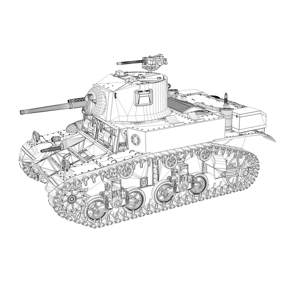 m3a1 light tank stuart – 156700 3d model c4d fbx lwo lw lws obj 3ds 265345