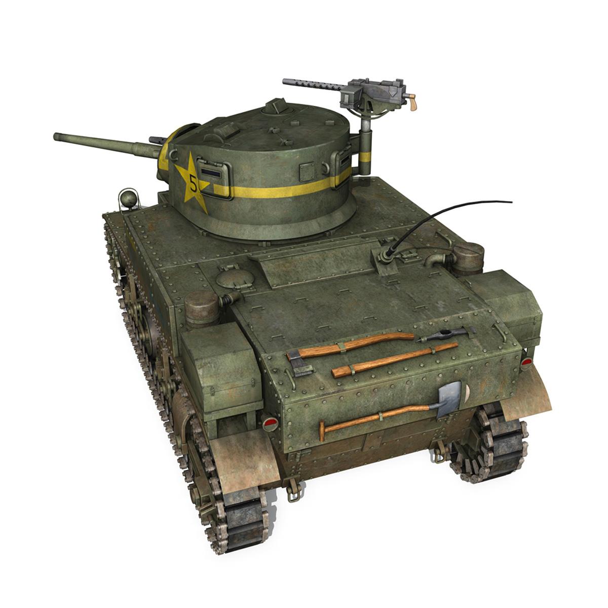 m3 light tank stuart – el diablo 3d model 3ds c4d fbx lwo lw lws obj 265357