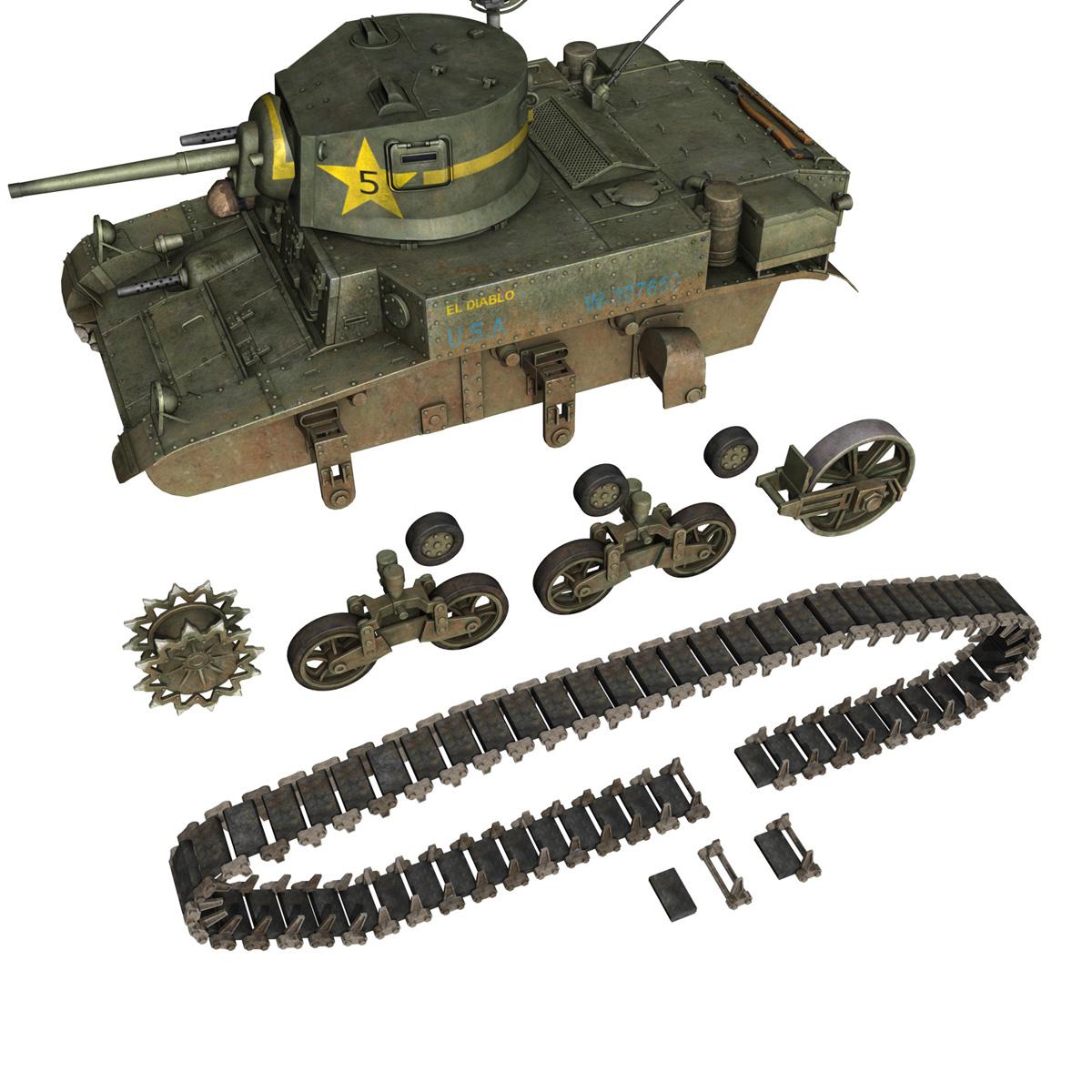 m3 light tank stuart – el diablo 3d model 3ds c4d fbx lwo lw lws obj 265361