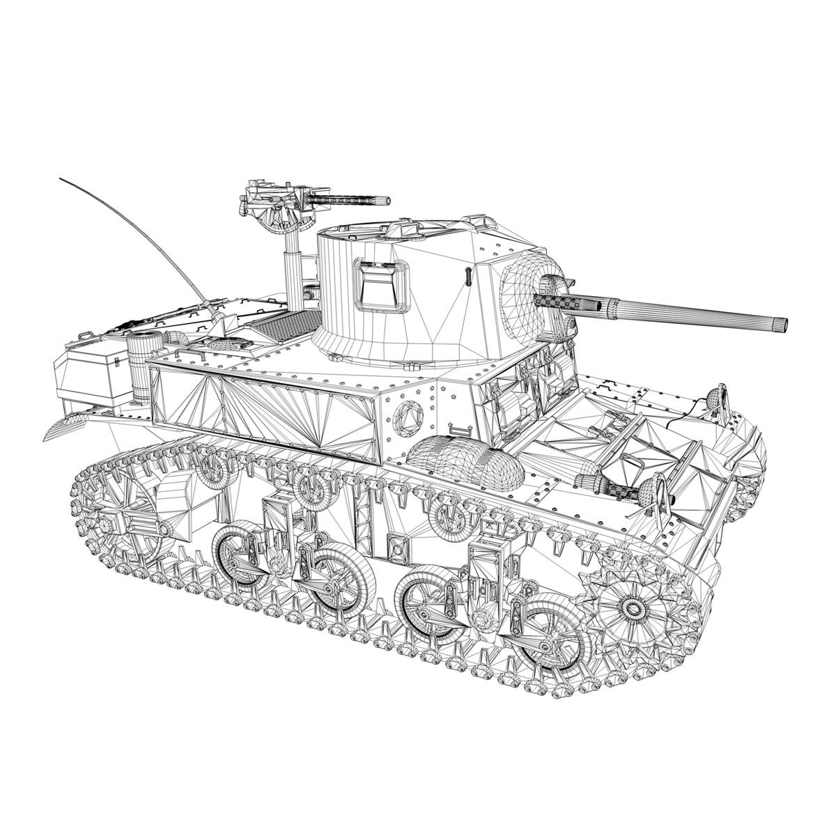 m3 light tank stuart – el diablo 3d model 3ds c4d fbx lwo lw lws obj 265362