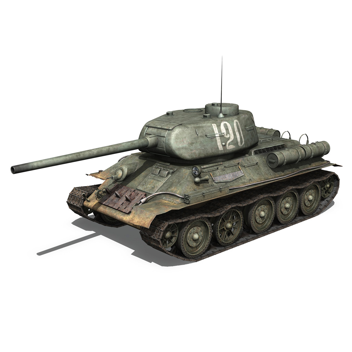 t-34 85 – soviet medium tank – 120 3d model 3ds fbx lwo lw lws obj c4d 265370