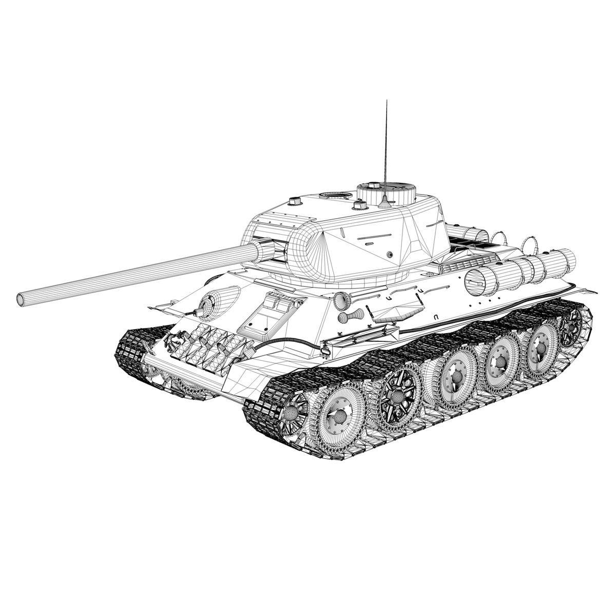 t-34 85 – soviet medium tank – 120 3d model 3ds fbx lwo lw lws obj c4d 265378