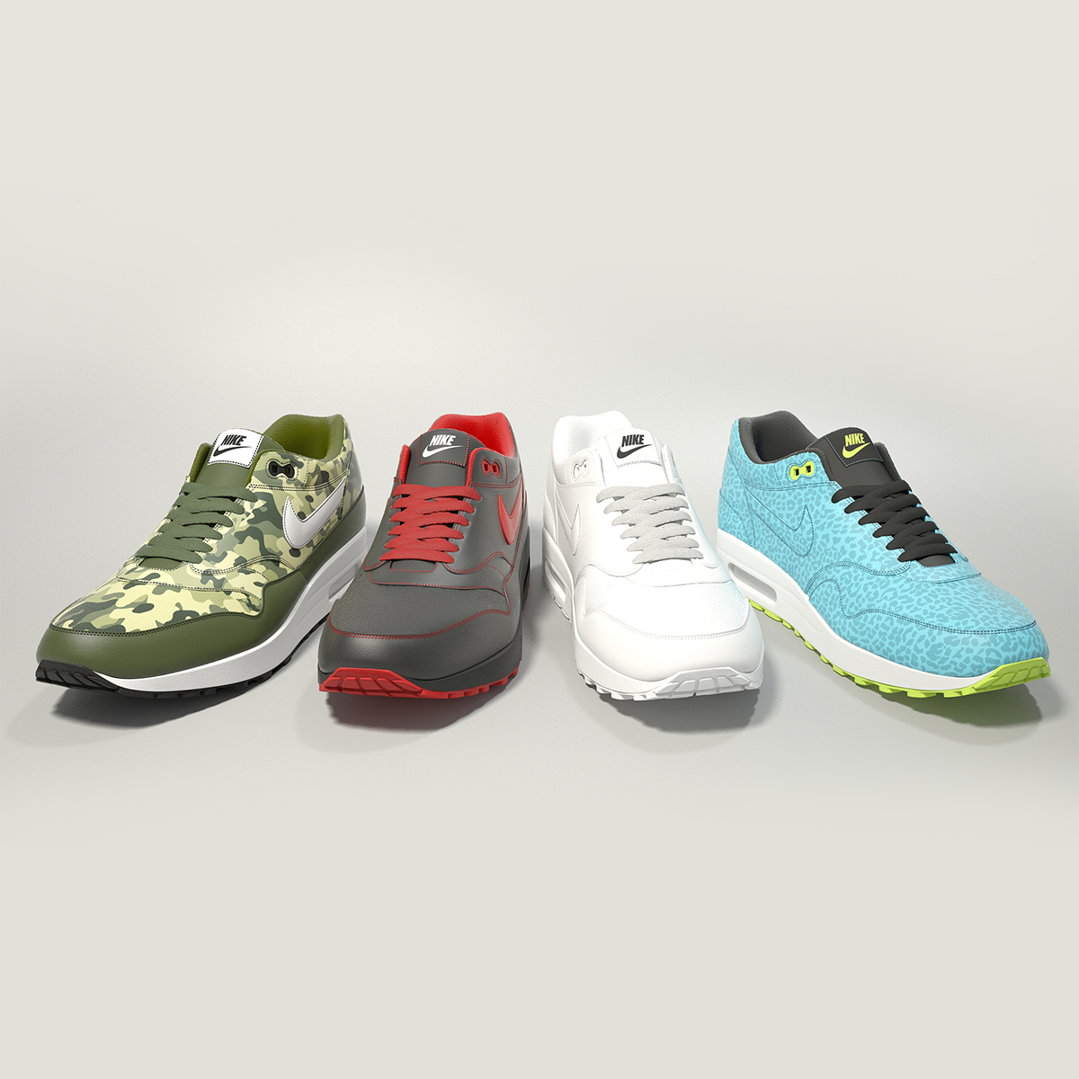 nike air max 1 3d model max obj fbx jpeg 265397