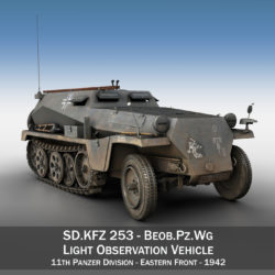 SD.KFZ 253 - Beob.Pz.Wg. - 11PD 3d model 0