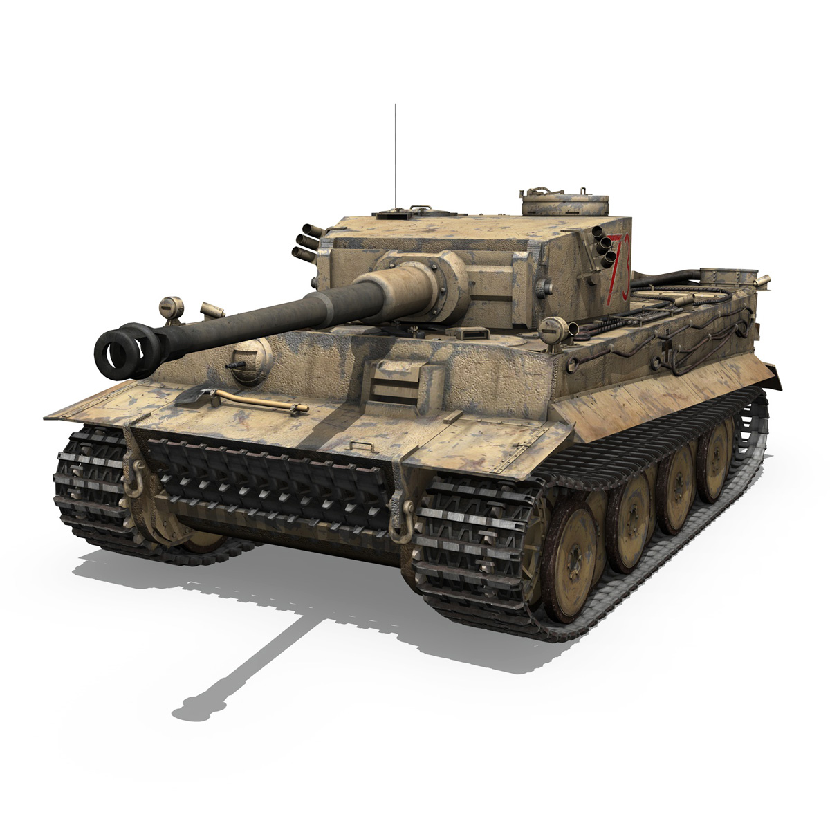 panzer vi – tiger – 731 – early production 3d model 3ds lwo lw lws obj c4d fbx 265430