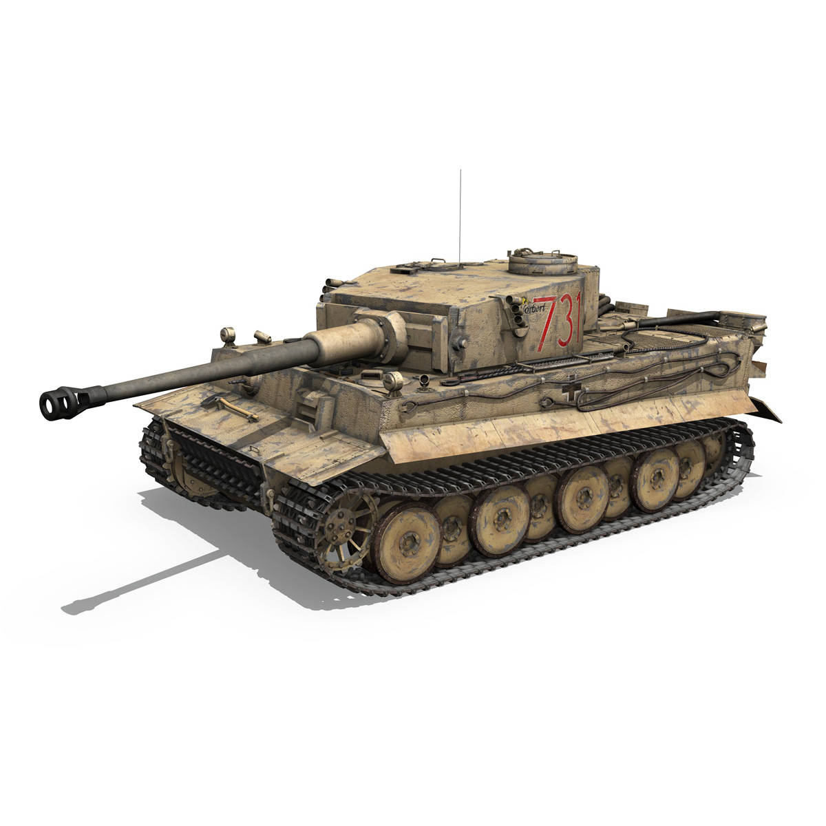 panzer vi – tiger – 731 – early production 3d model 3ds lwo lw lws obj c4d fbx 265431