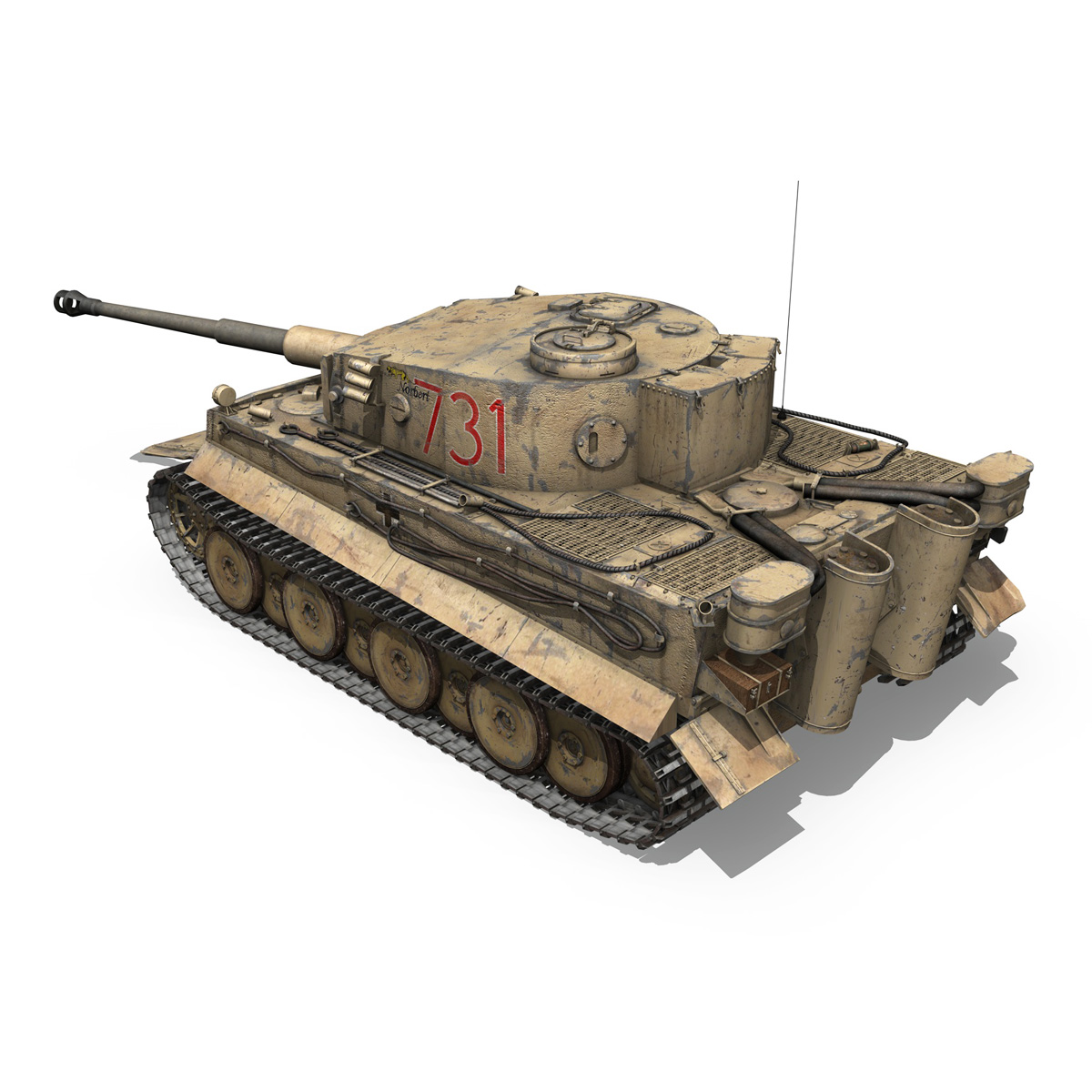 panzer vi – tiger – 731 – early production 3d model 3ds lwo lw lws obj c4d fbx 265432