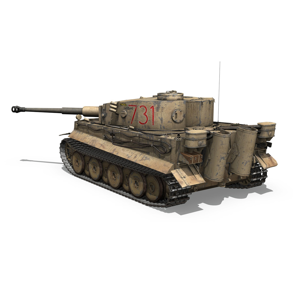 panzer vi – tiger – 731 – early production 3d model 3ds lwo lw lws obj c4d fbx 265433