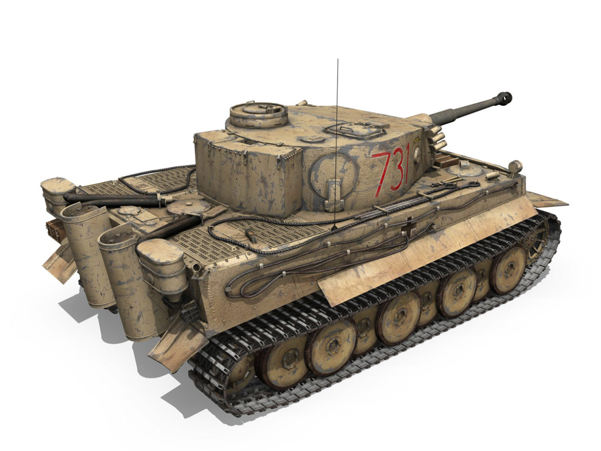 Panzer VI - Tiger - 731 - Early Production 3d model 0