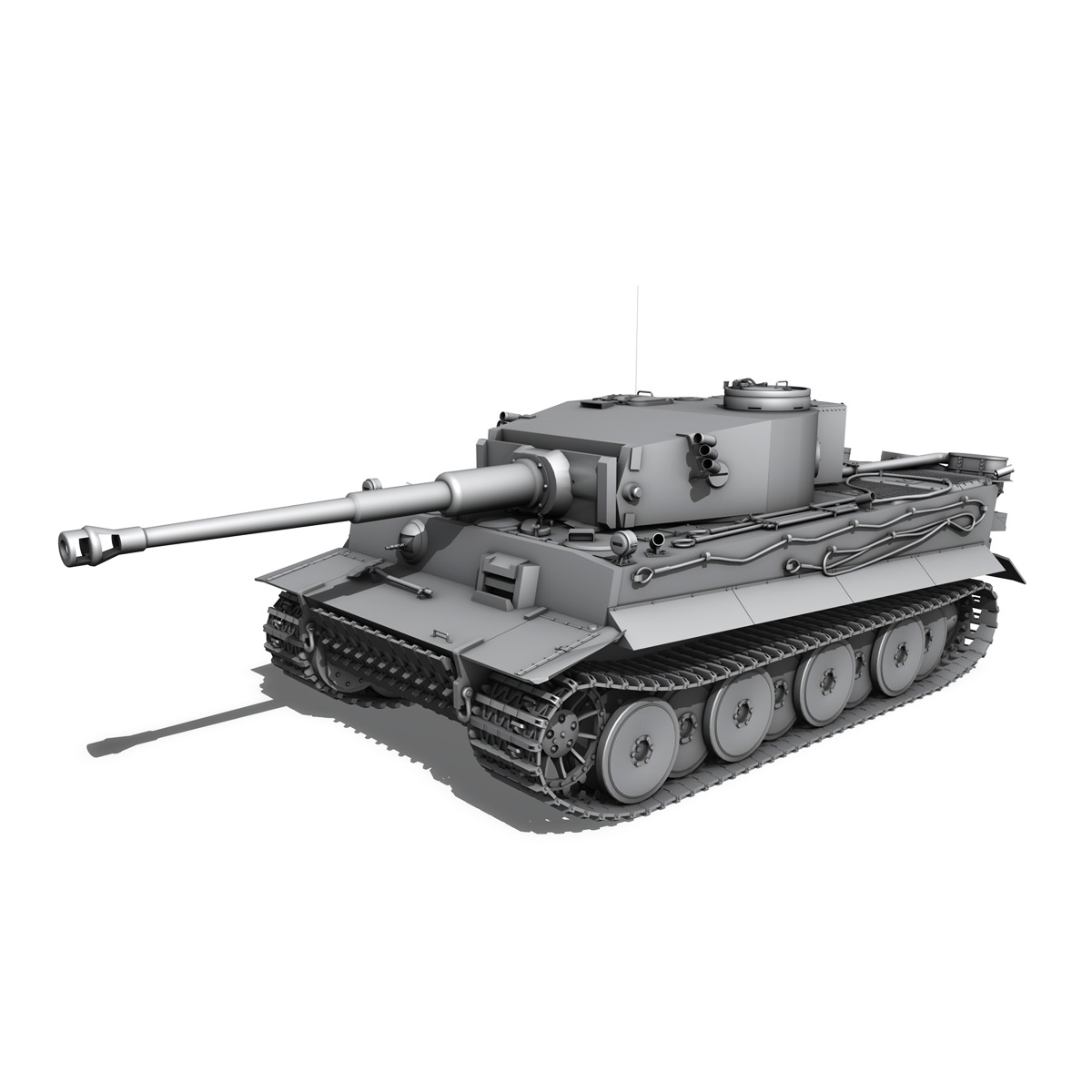 panzer vi – tiger – 731 – early production 3d model 3ds lwo lw lws obj c4d fbx 265439