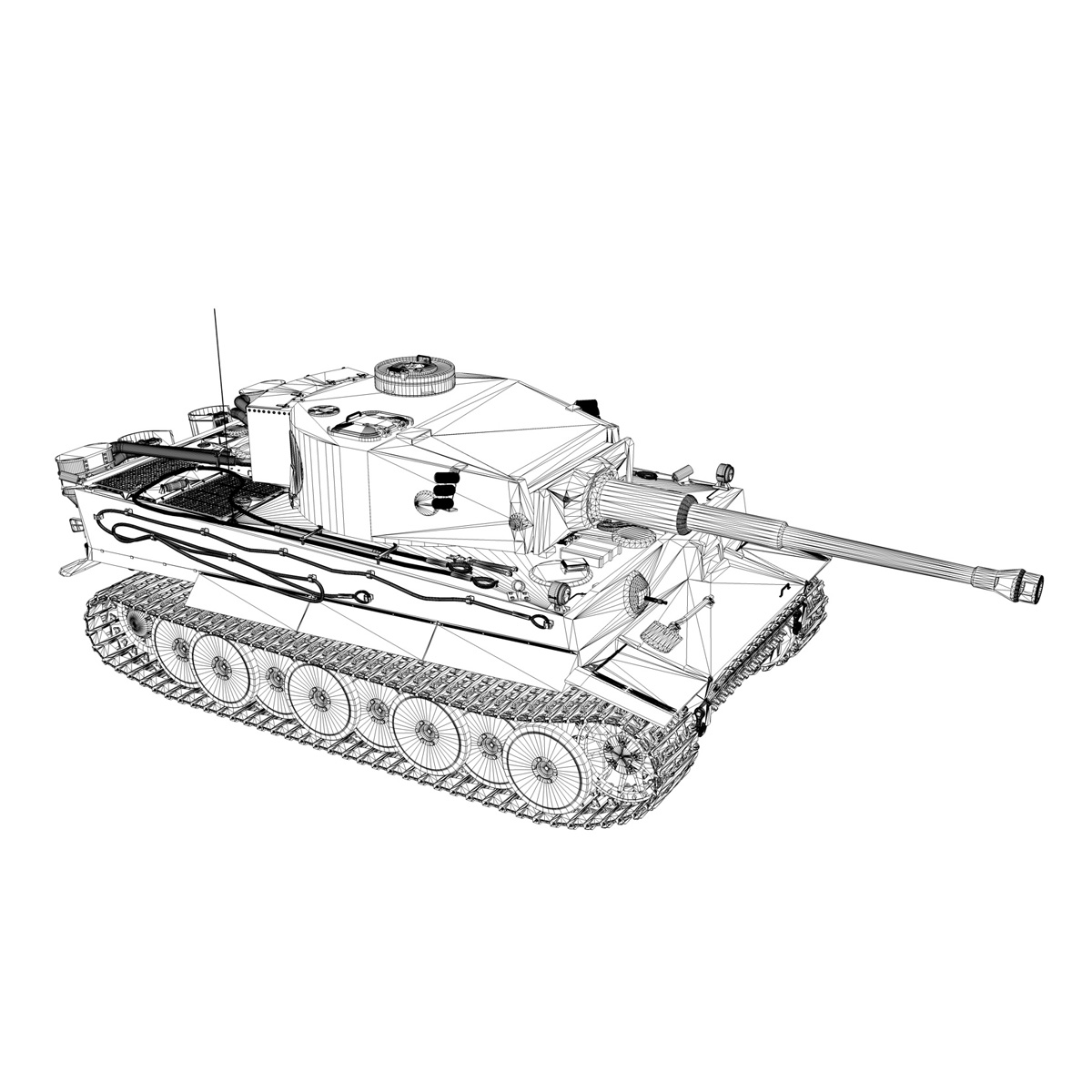 panzer vi – tiger – 731 – early production 3d model 3ds lwo lw lws obj c4d fbx 265440