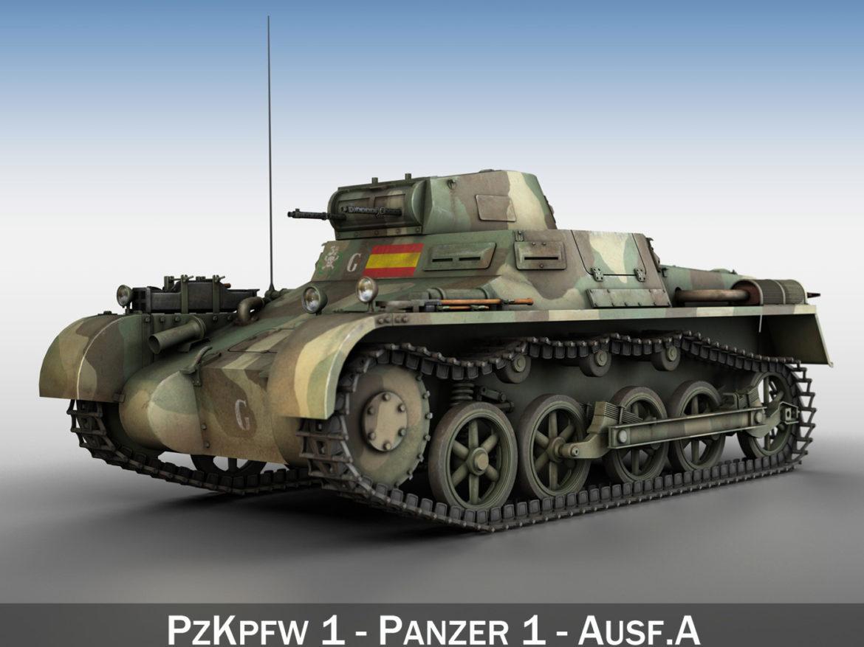PzKpfw 1 - Panzer 1 - Ausf. A - G 3d model
