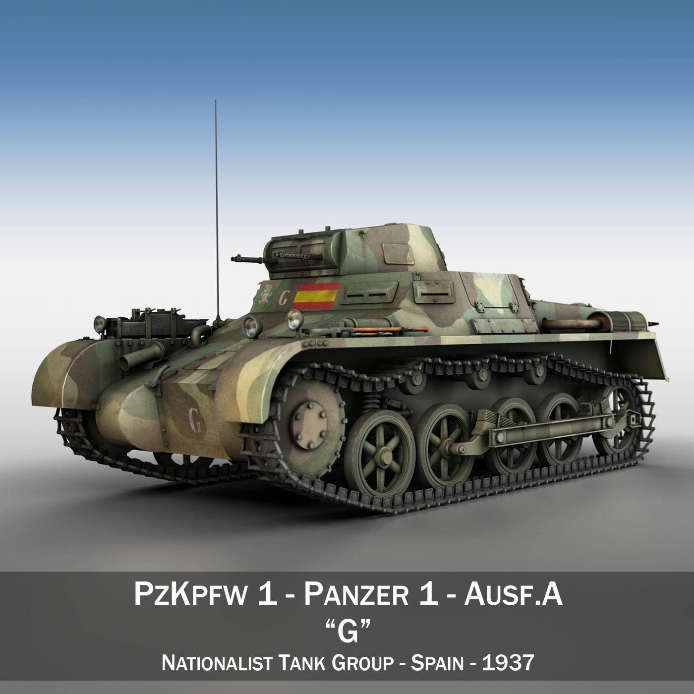 pzkpfw 1 – panzer 1 – ausf. a – g 3d model 3ds fbx lwo lw lws obj c4d 265447
