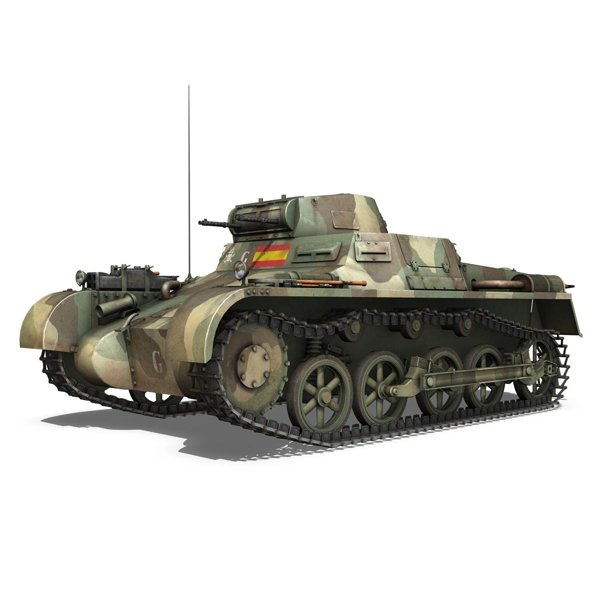 pzkpfw 1 – panzer 1 – ausf. a – g 3d model 3ds fbx lwo lw lws obj c4d 265448