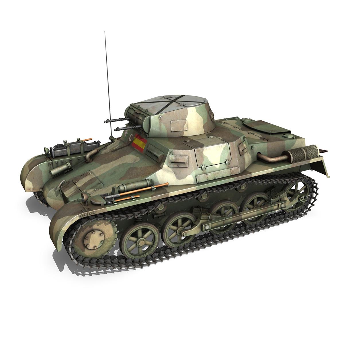 pzkpfw 1 – panzer 1 – ausf. a – g 3d model 3ds fbx lwo lw lws obj c4d 265449