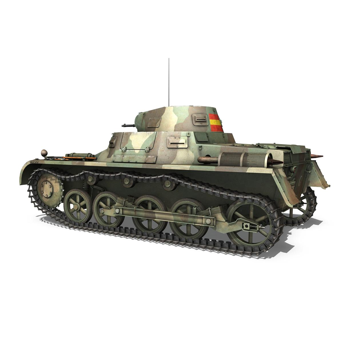 pzkpfw 1 – panzer 1 – ausf. a – g 3d model 3ds fbx lwo lw lws obj c4d 265450