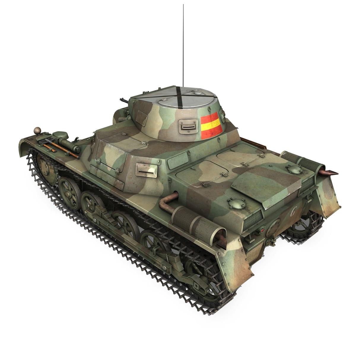 pzkpfw 1 – panzer 1 – ausf. a – g 3d model 3ds fbx lwo lw lws obj c4d 265451