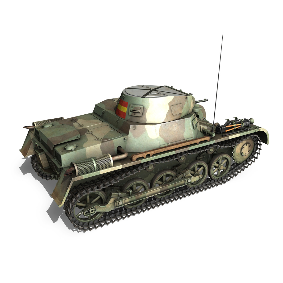 pzkpfw 1 – panzer 1 – ausf. a – g 3d model 3ds fbx lwo lw lws obj c4d 265452