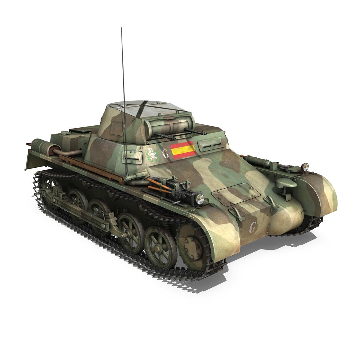 pzkpfw 1 – panzer 1 – ausf. a – g 3d model 3ds fbx lwo lw lws obj c4d 265453