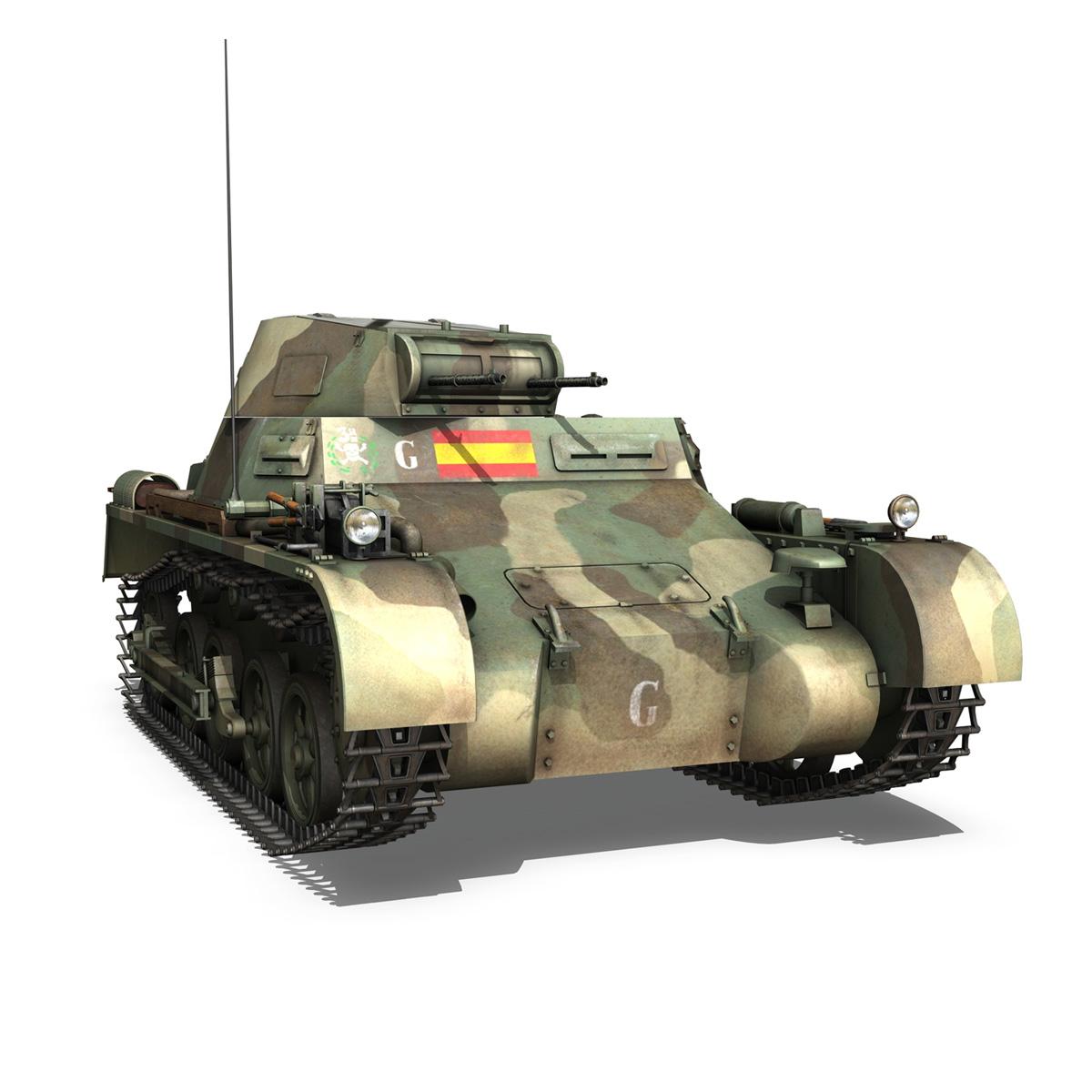 pzkpfw 1 – panzer 1 – ausf. a – g 3d model 3ds fbx lwo lw lws obj c4d 265454