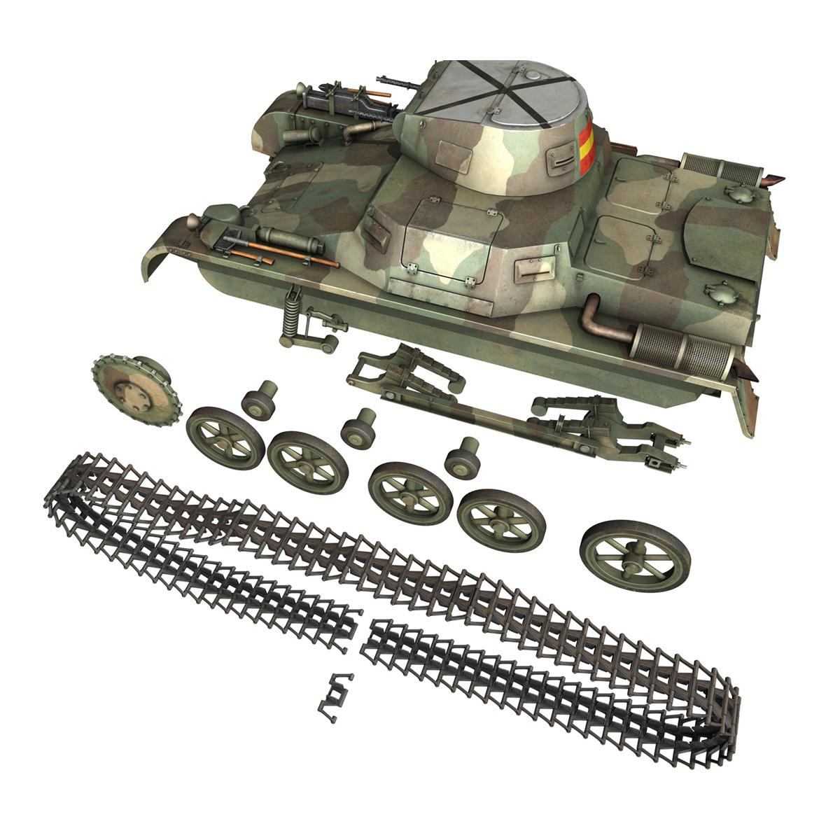 pzkpfw 1 – panzer 1 – ausf. a – g 3d model 3ds fbx lwo lw lws obj c4d 265456