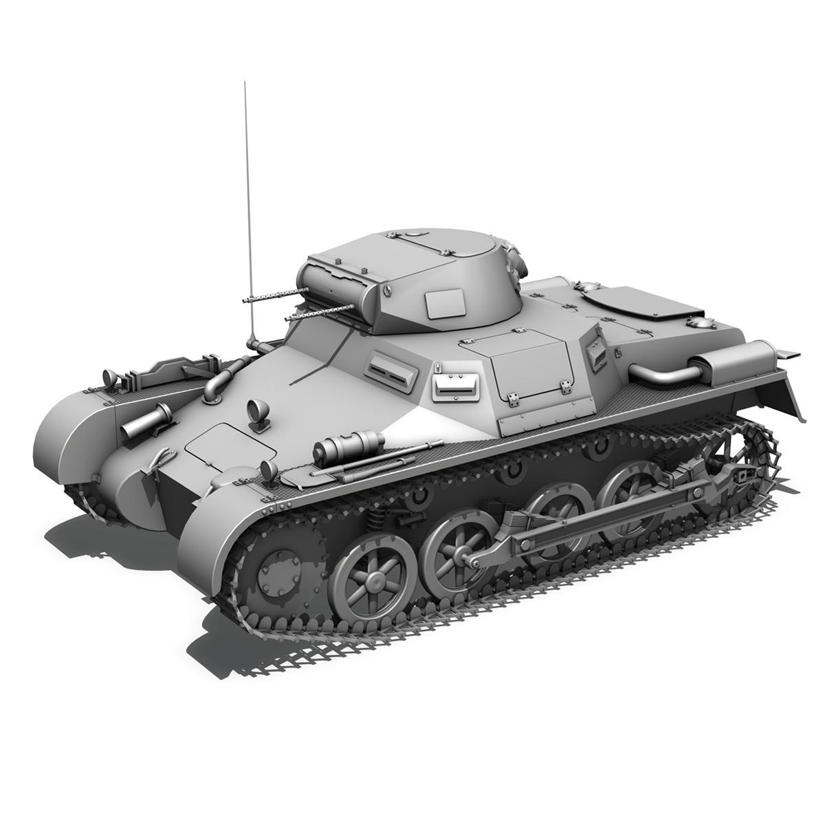 pzkpfw 1 – panzer 1 – ausf. a – g 3d model 3ds fbx lwo lw lws obj c4d 265457