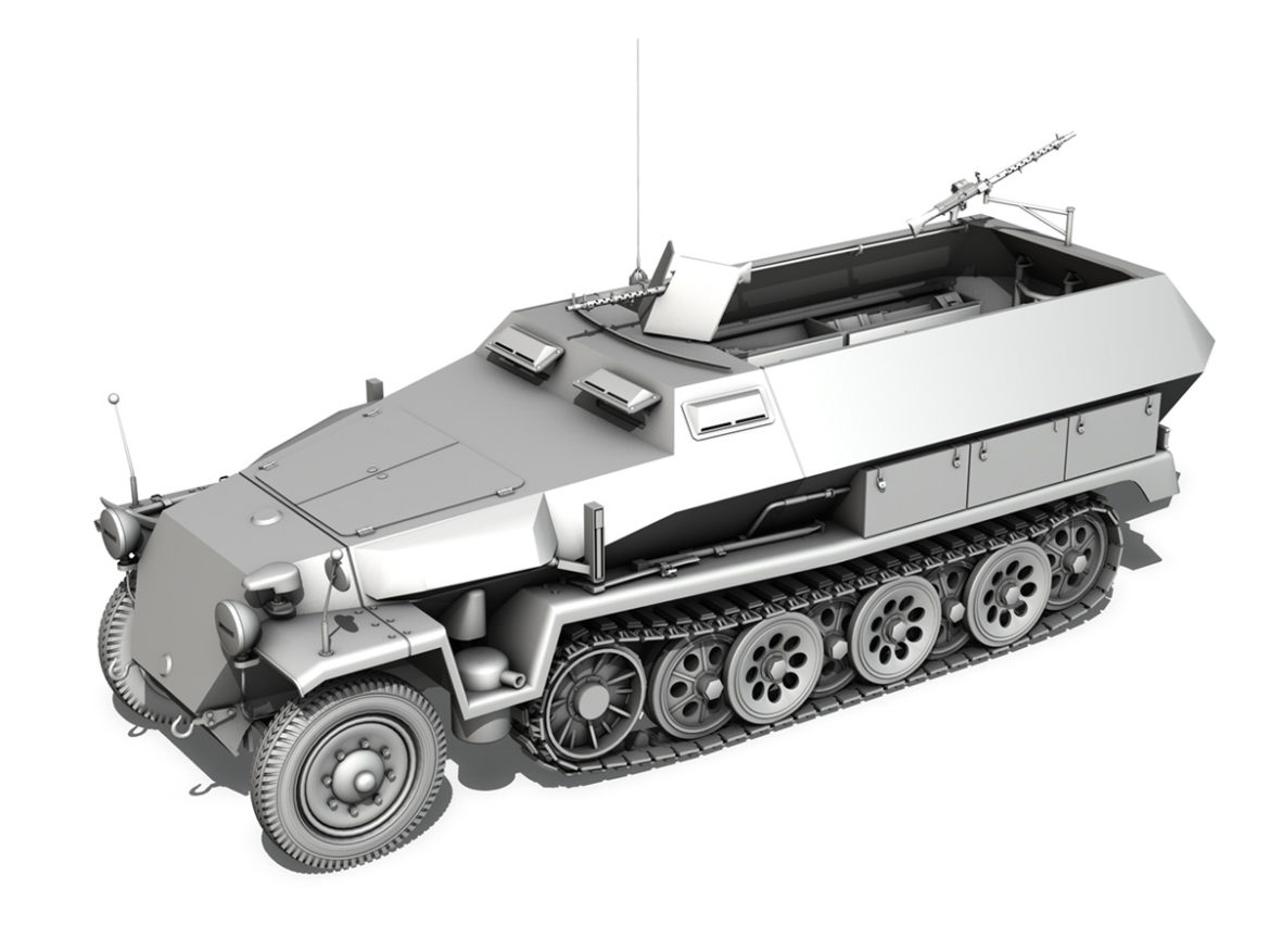 SD.KFZ 251 Ausf.C - Half-track - 24PD 3d model 0
