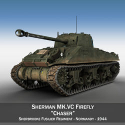 Sherman MK VC Firefly - Chaser 3d model high poly virtual reality