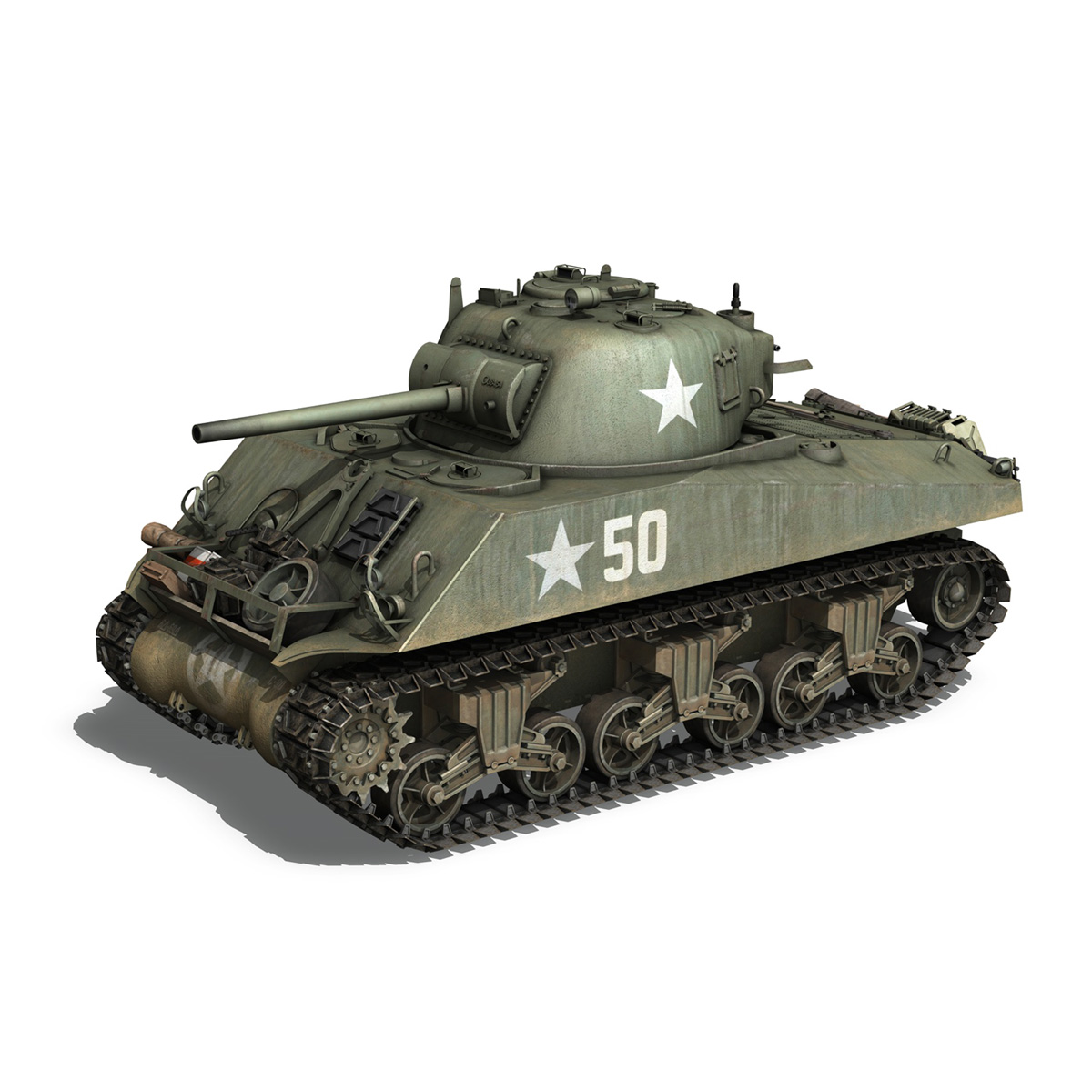 m4a3 75mm – sherman – 50 3d model 3ds fbx lwo lw lws obj c4d 265526