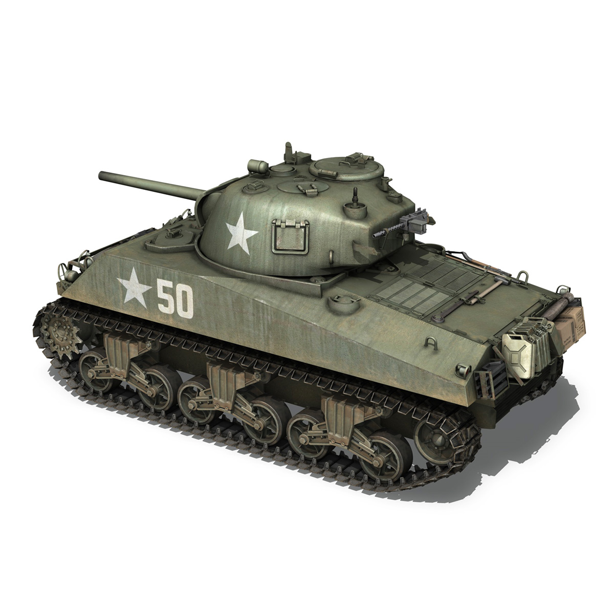 m4a3 75mm – sherman – 50 3d model 3ds fbx lwo lw lws obj c4d 265527
