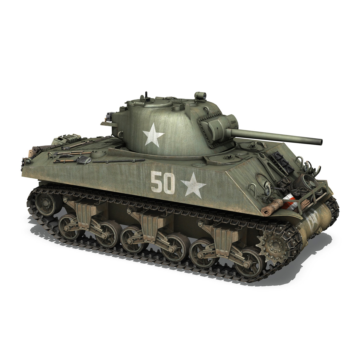 m4a3 75mm – sherman – 50 3d model 3ds fbx lwo lw lws obj c4d 265531
