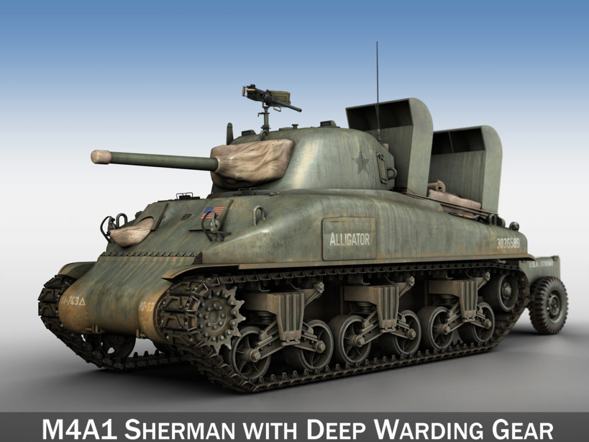 M4A1 Sherman - Alligator 3d model 0