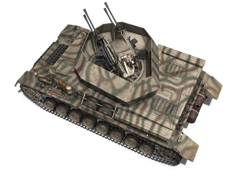 Flakpanzer IV - Wirbelwind - s.SS-PzAbt.102 3d model high poly virtual reality