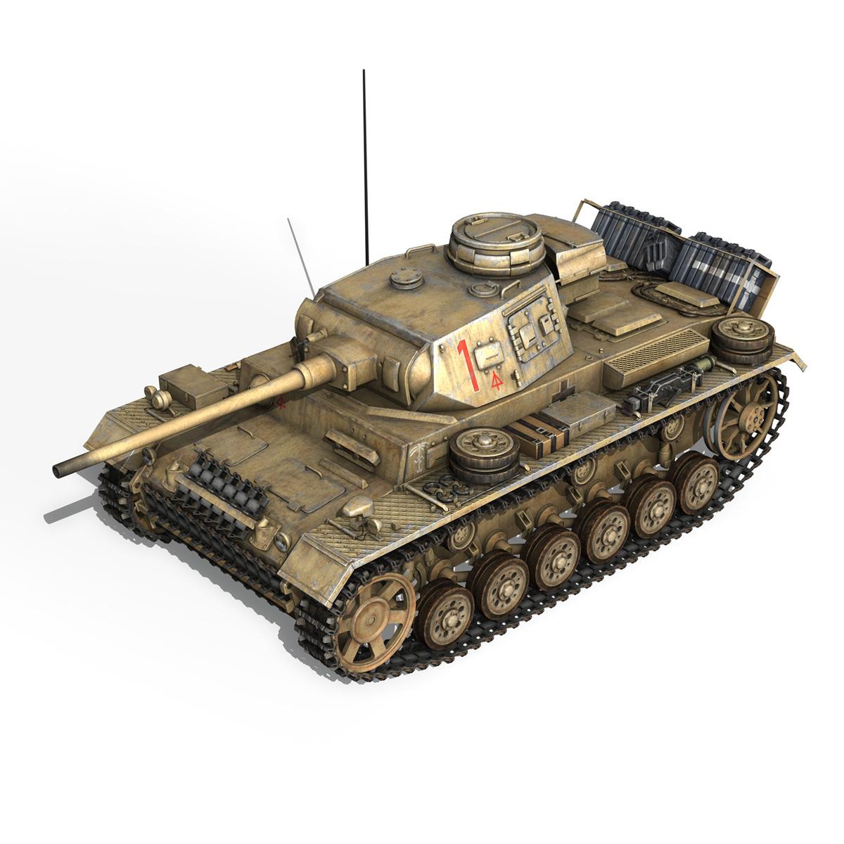 pzkpfw iii – panzerkampfwagen 3 – ausf.j – dak – 1 3d model 3ds fbx lwo lw lws obj c4d 265585