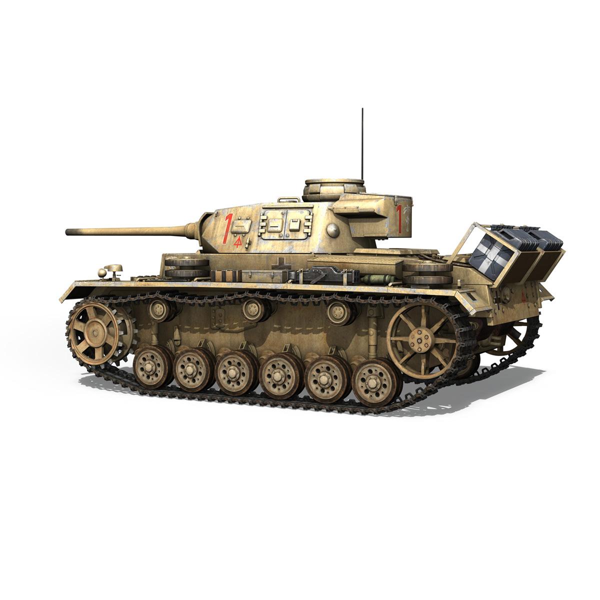 pzkpfw iii – panzerkampfwagen 3 – ausf.j – dak – 1 3d model 3ds fbx lwo lw lws obj c4d 265586