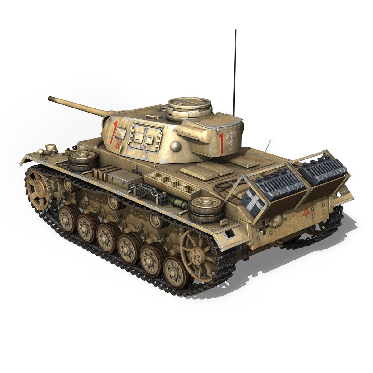 pzkpfw iii – panzerkampfwagen 3 – ausf.j – dak – 1 3d model 3ds fbx lwo lw lws obj c4d 265587