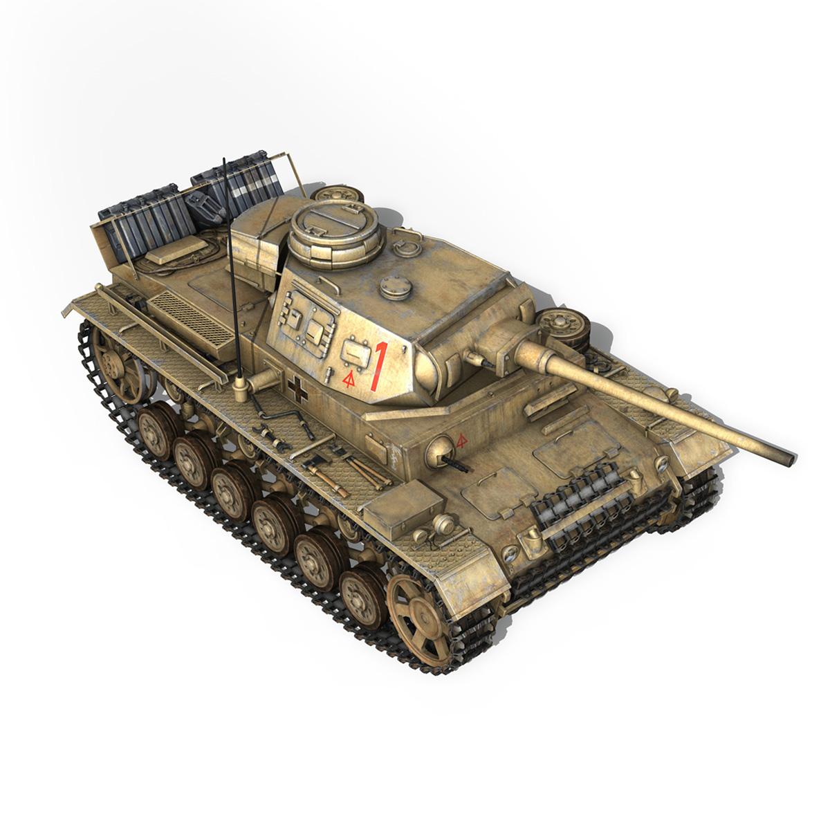 pzkpfw iii – panzerkampfwagen 3 – ausf.j – dak – 1 3d model 3ds fbx lwo lw lws obj c4d 265590