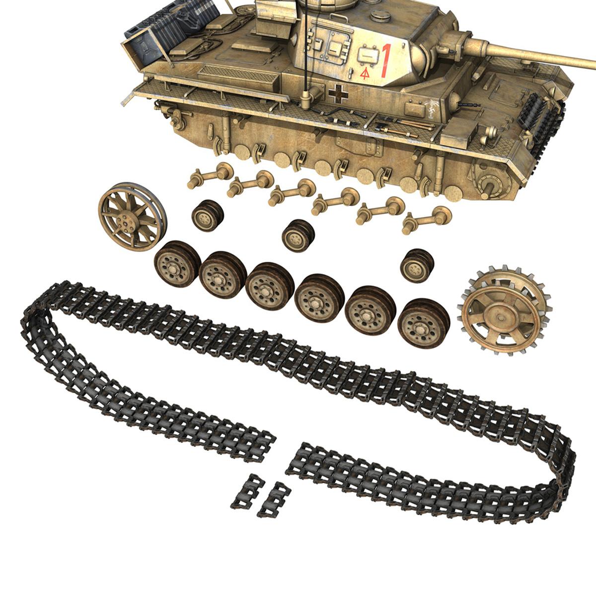 pzkpfw iii – panzerkampfwagen 3 – ausf.j – dak – 1 3d model 3ds fbx lwo lw lws obj c4d 265592