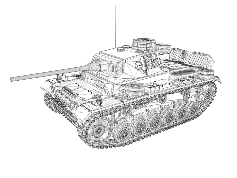 PzKpfw III - Panzerkampfwagen 3 - Ausf.J - DAK - 1 3d model 0