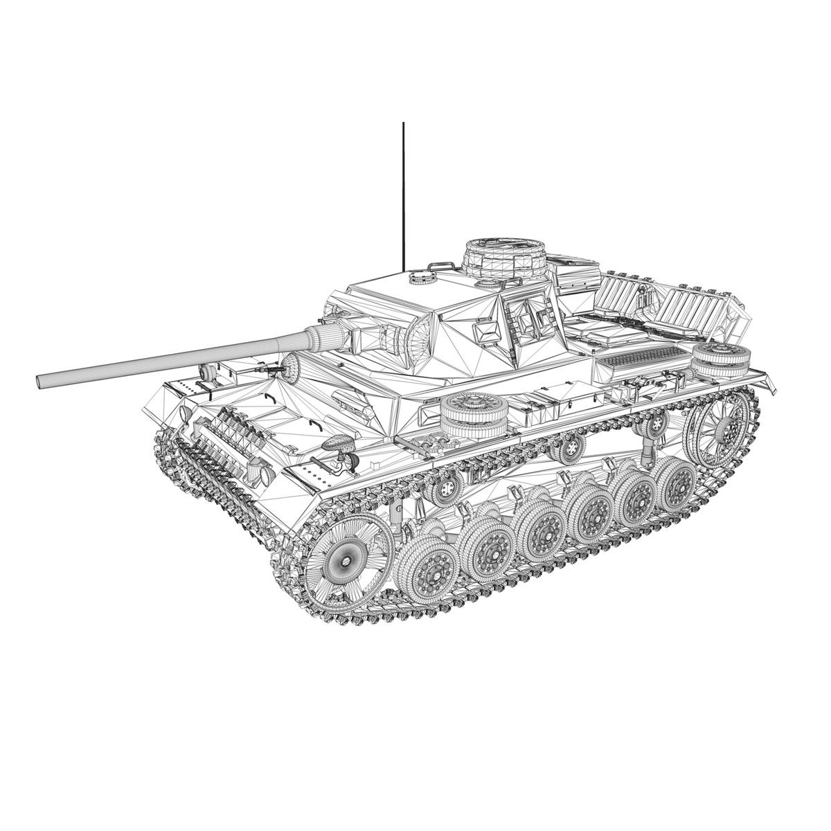 pzkpfw iii – panzerkampfwagen 3 – ausf.j – dak – 1 3d model 3ds fbx lwo lw lws obj c4d 265594