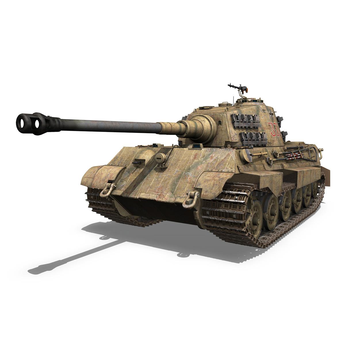 panzerkampfwagen vi – ausf.b – tiger ii – 333 3d model 3ds lwo lw lws obj c4d 265601