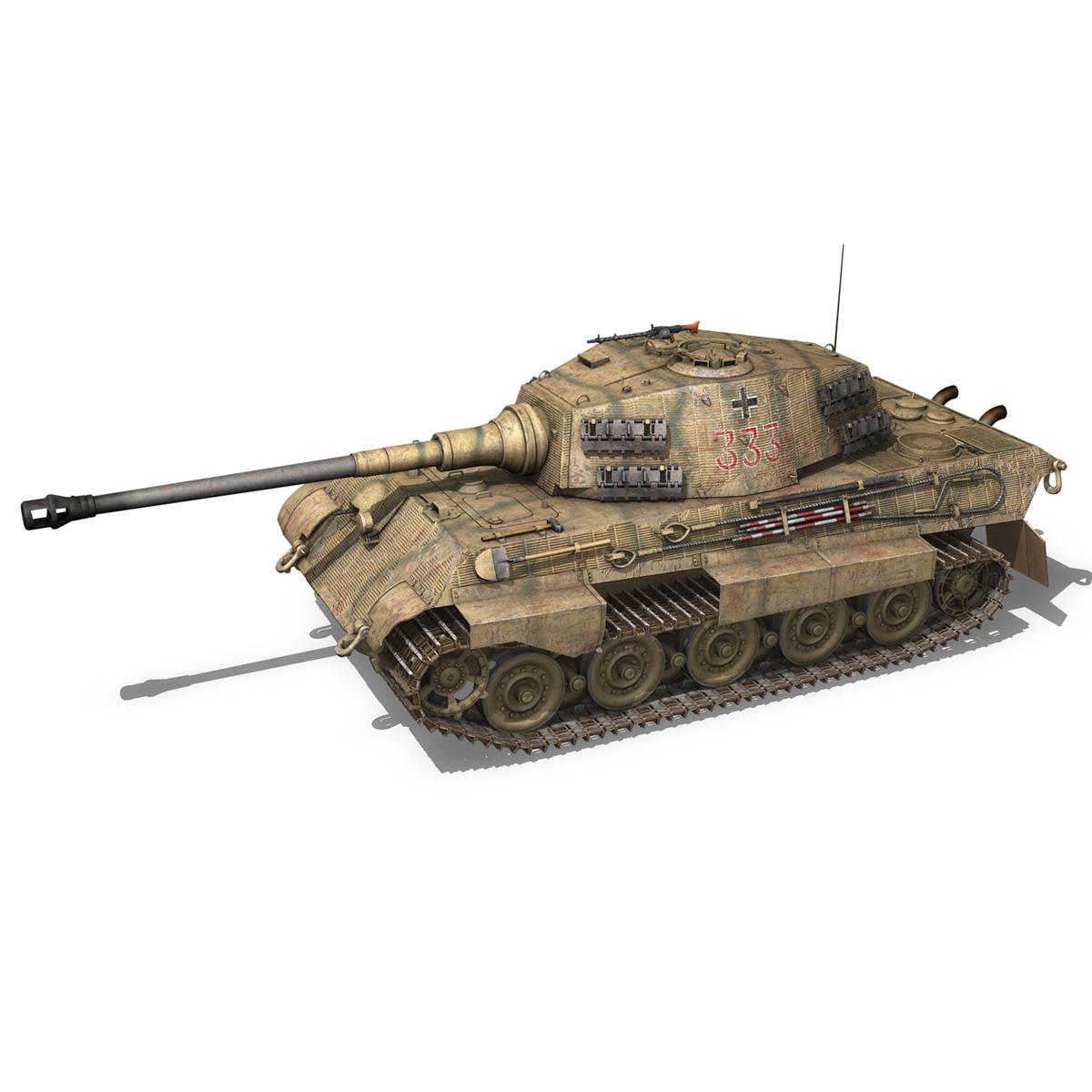 panzerkampfwagen vi – ausf.b – tiger ii – 333 3d model 3ds lwo lw lws obj c4d 265602