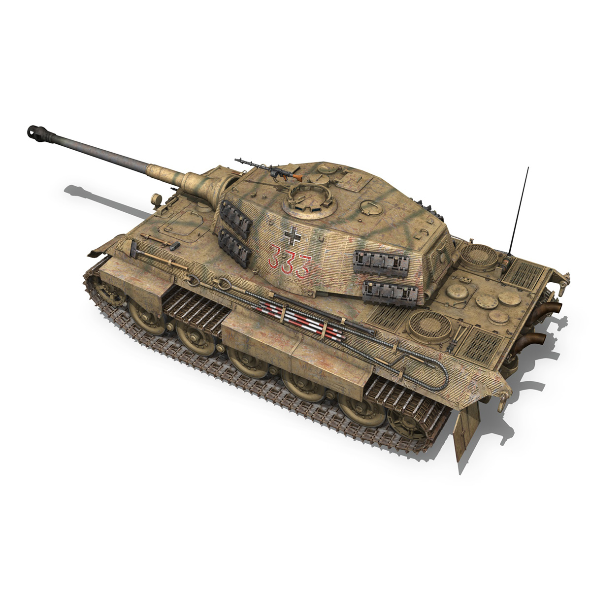 panzerkampfwagen vi – ausf.b – tiger ii – 333 3d model 3ds lwo lw lws obj c4d 265603