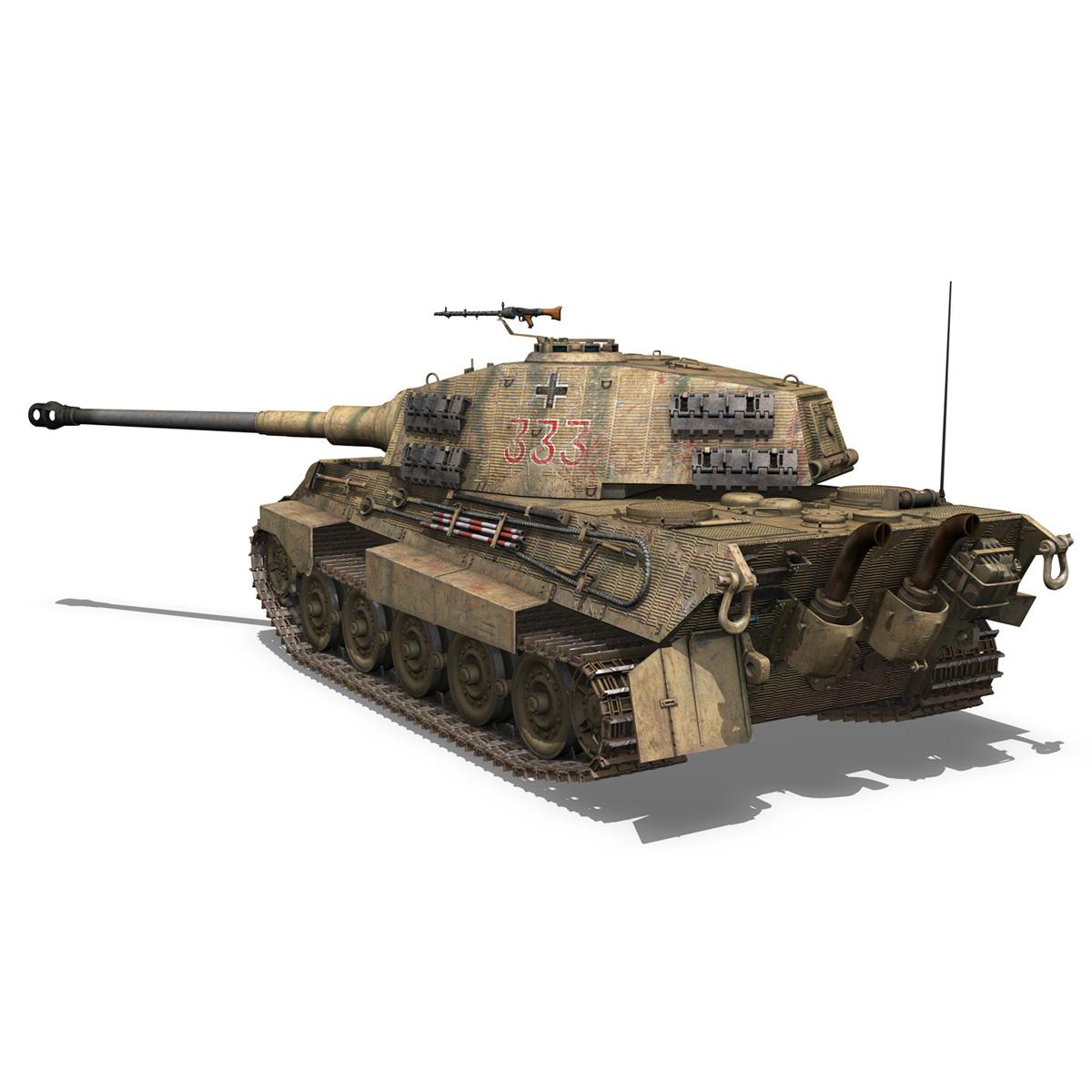 panzerkampfwagen vi – ausf.b – tiger ii – 333 3d model 3ds lwo lw lws obj c4d 265604
