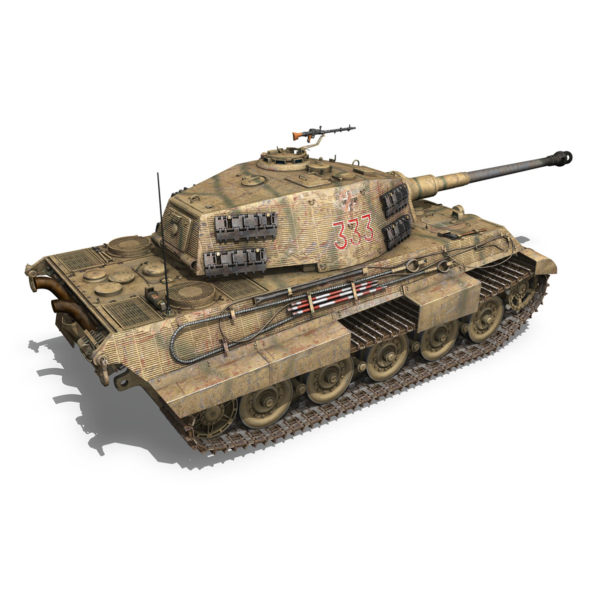 panzerkampfwagen vi – ausf.b – tiger ii – 333 3d model 3ds lwo lw lws obj c4d 265605