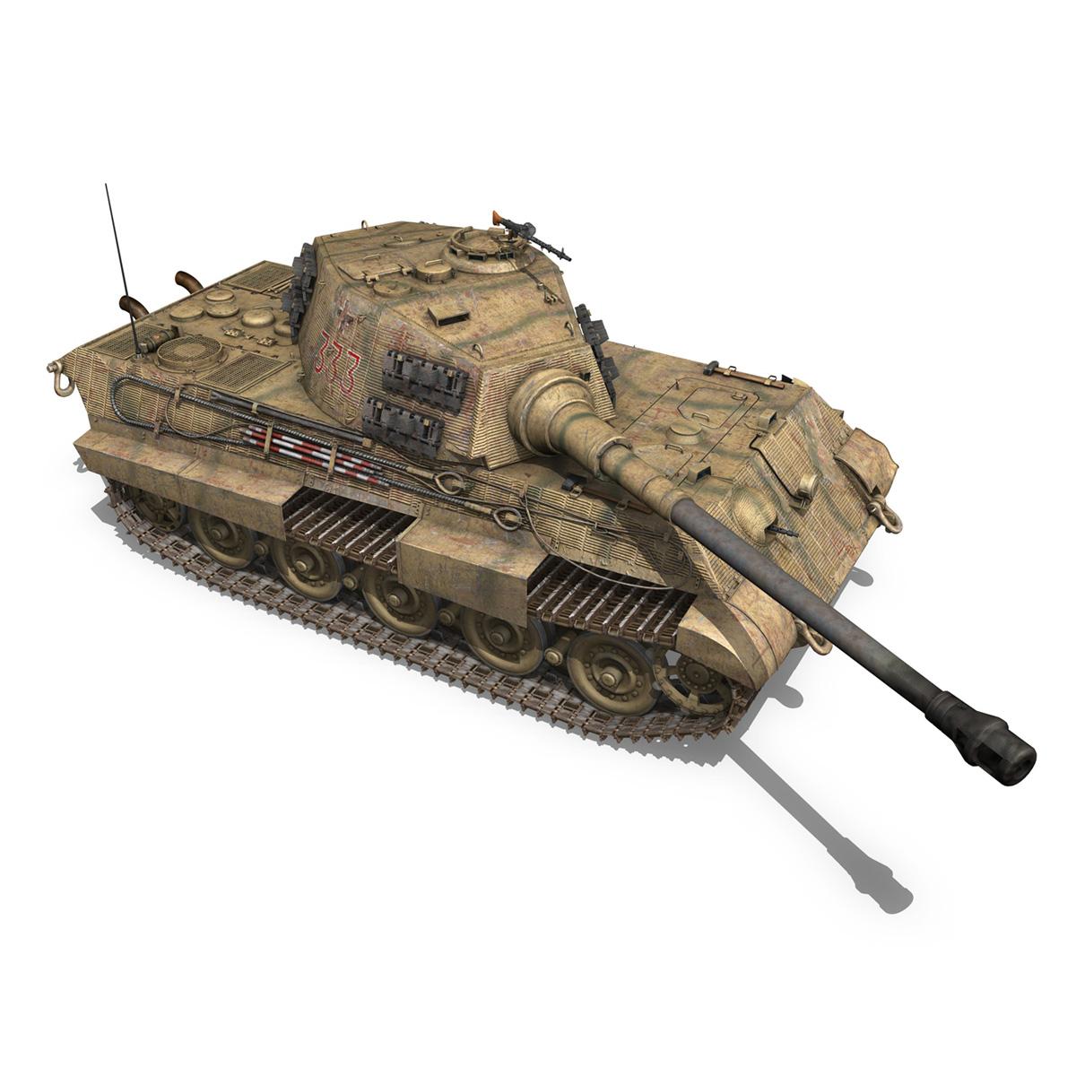 panzerkampfwagen vi – ausf.b – tiger ii – 333 3d model 3ds lwo lw lws obj c4d 265606