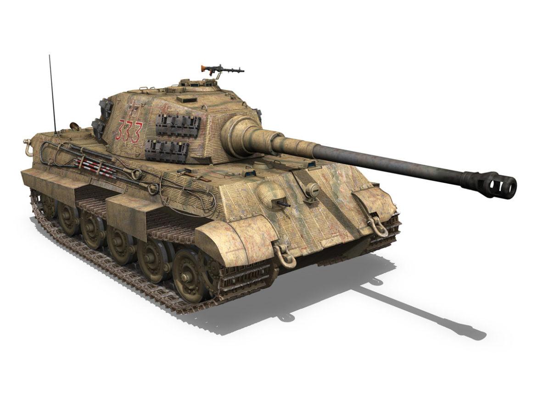 Panzerkampfwagen VI - Ausf.B - Tiger II - 333 3d model 0