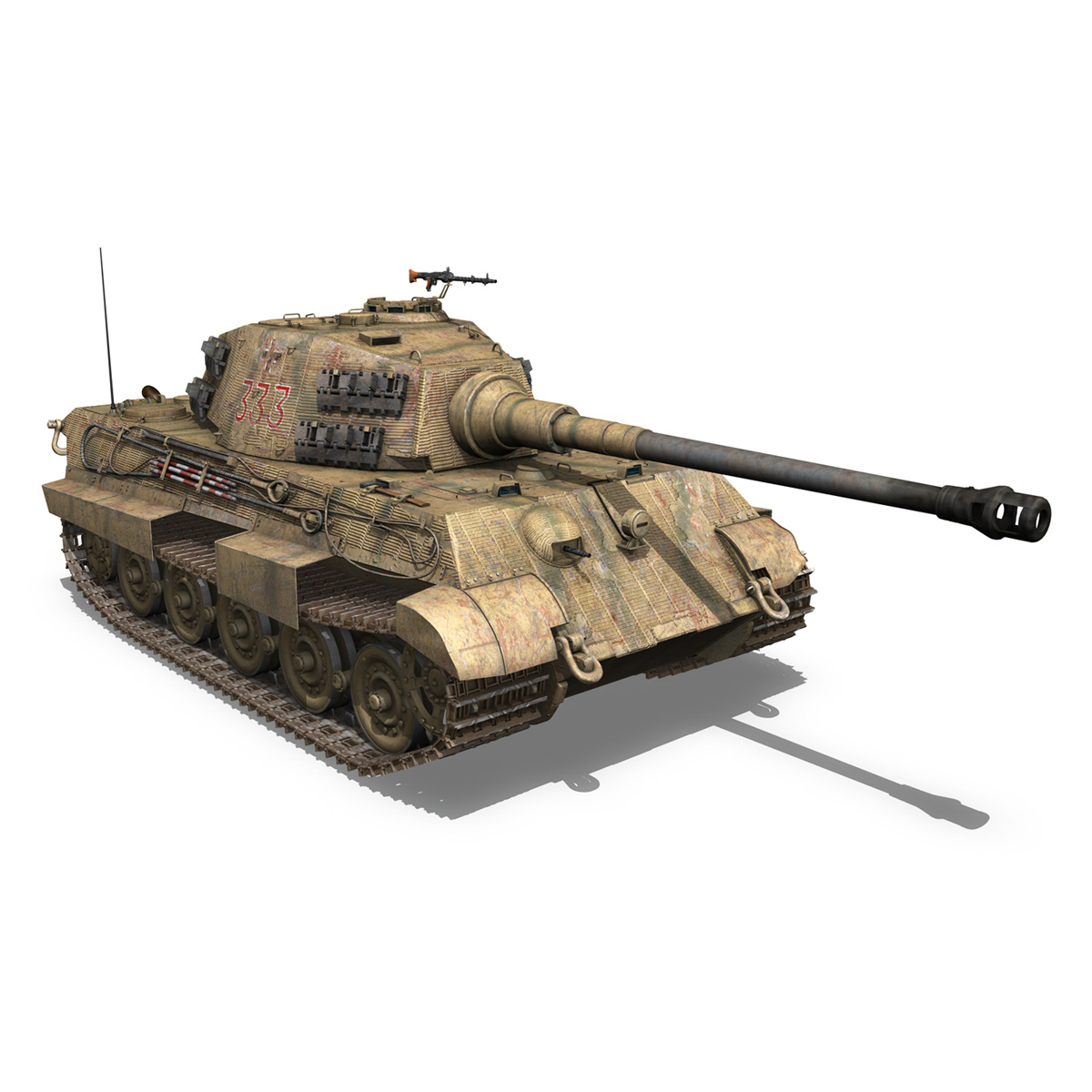 panzerkampfwagen vi – ausf.b – tiger ii – 333 3d model 3ds lwo lw lws obj c4d 265607