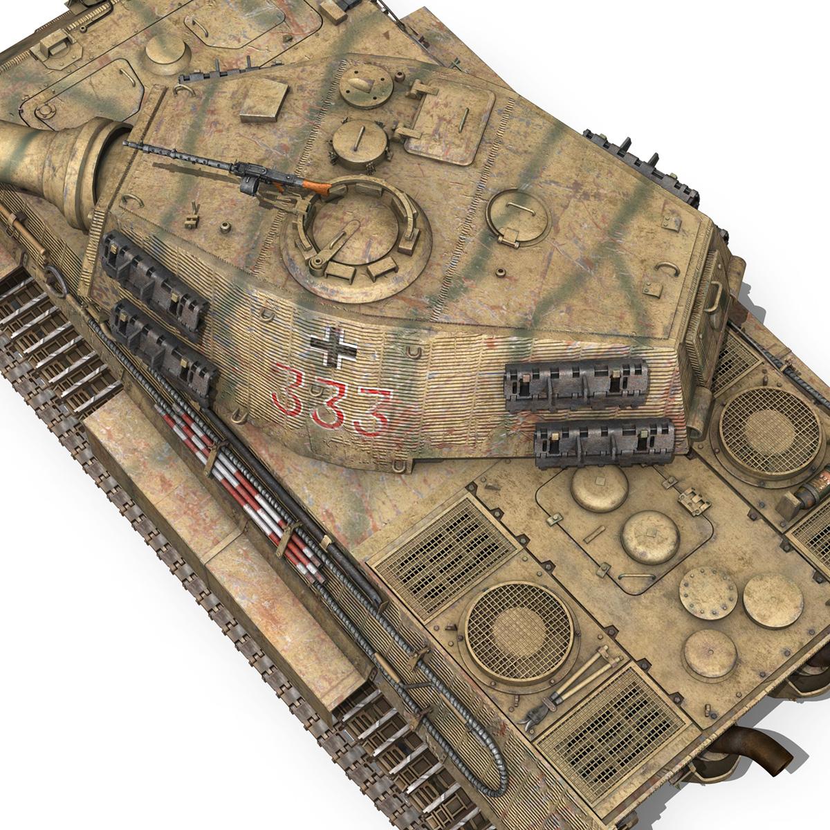 panzerkampfwagen vi – ausf.b – tiger ii – 333 3d model 3ds lwo lw lws obj c4d 265608