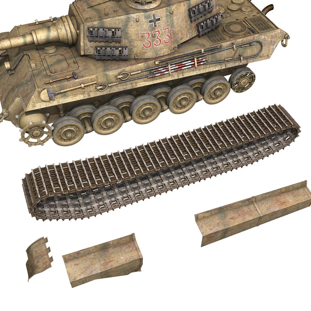 panzerkampfwagen vi – ausf.b – tiger ii – 333 3d model 3ds lwo lw lws obj c4d 265609
